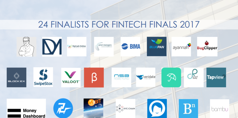 24 Finalists For Fintech Finals 2017 in Hong Kong