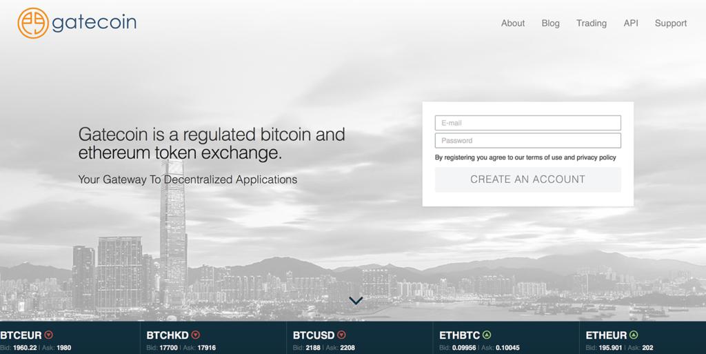 Gatecoin Blockchain Bitcoin Fintech Hong Kong