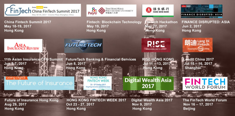 12 Upcoming Fintech Events in Hong Kong and China