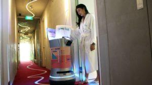 singapre robots hotel iot