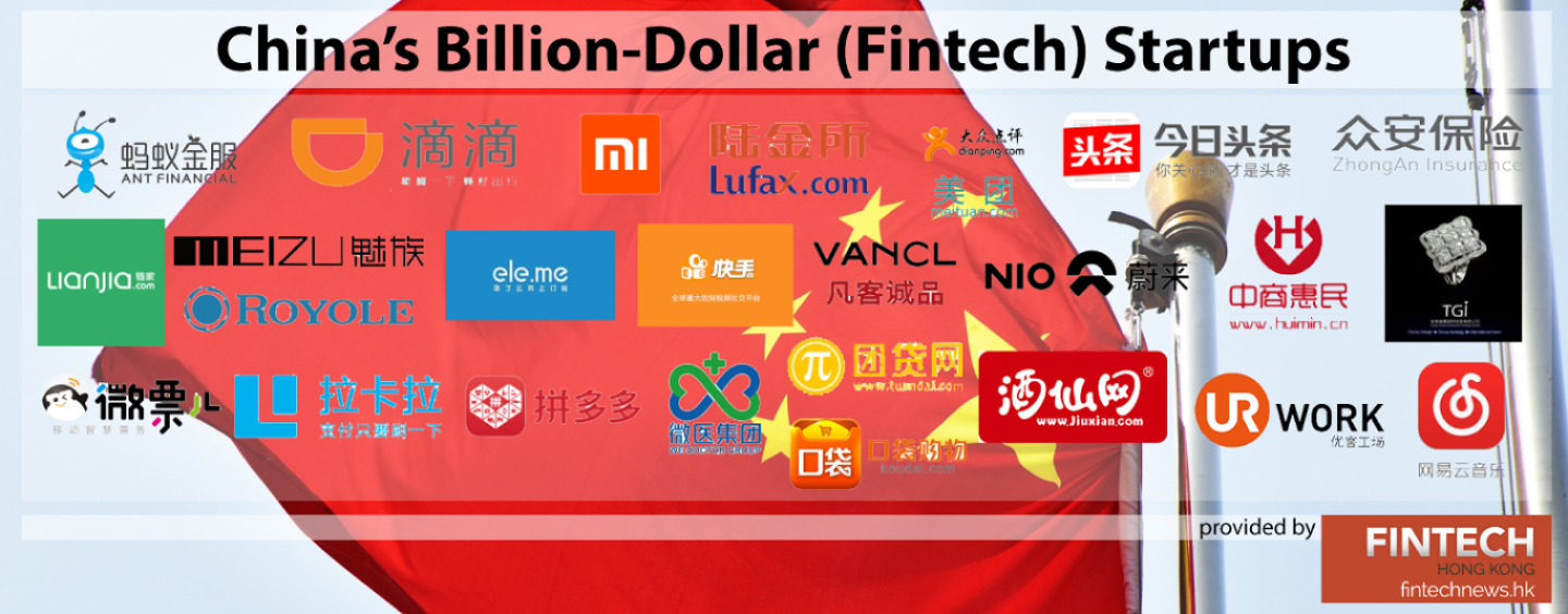 China's Billion-Dollar (Fintech) Startups