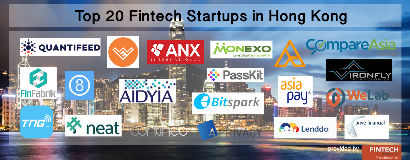 TOP 20 FINTECH STARTUPS IN HONG KONG