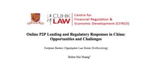Online P2P Lending and Regulatory Responses in China 2017