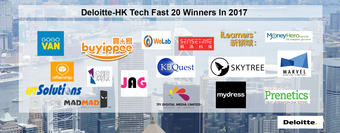 Deloitte Announces Winners For Its Inaugural Technology Fast 20 Hong Kong Program