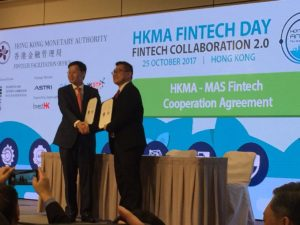 Hong Kong Fintech Week 2017 MAS HKMA Fintech Cooperation Agreement