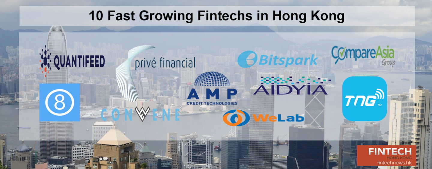 10 Fast Growing FinTechs for Hong Kong in 2017