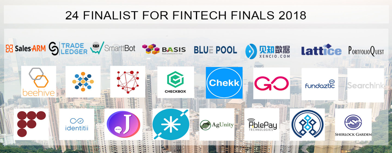 24 Fintech Finalists for the Fintech Finals in Hong Kong in January 2018
