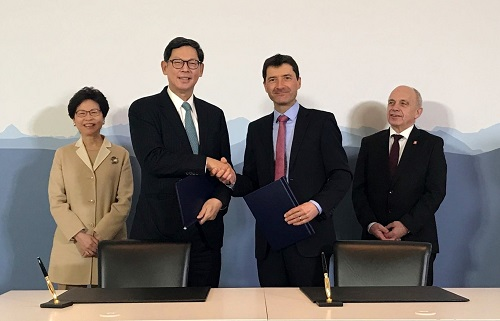 Switzerland and Hong Kong strengthen their cooperation