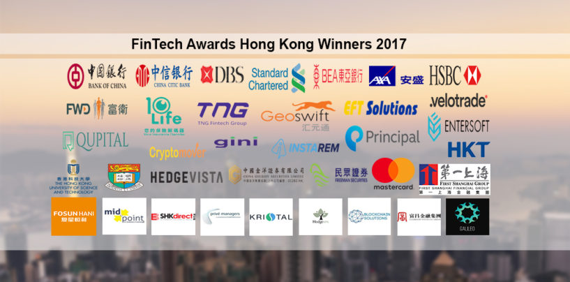 FinTech Awards Hong Kong Winners 2017