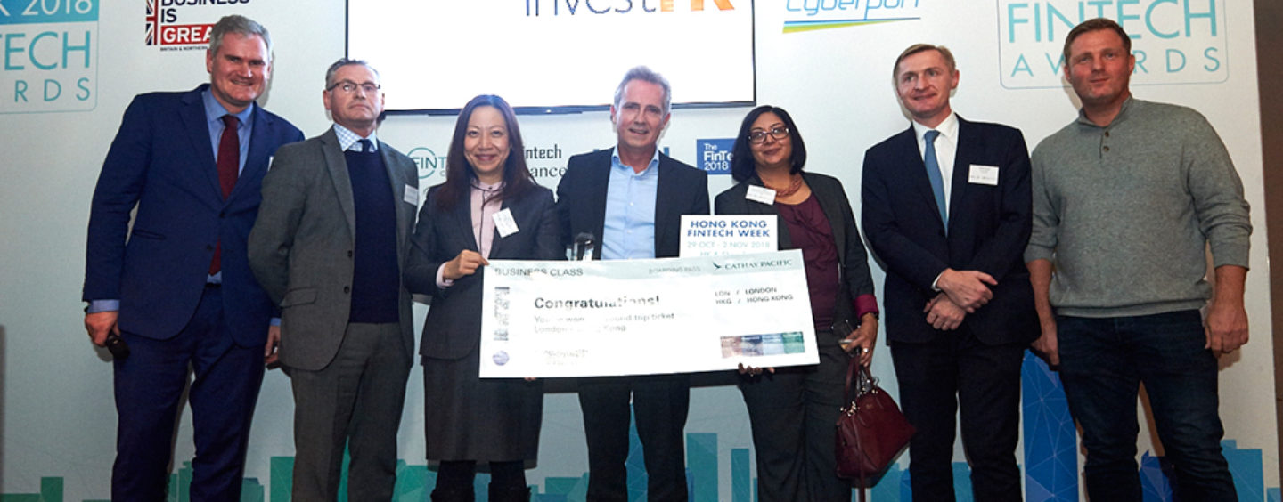 London Data Analytics Company Mosaic Smart Data Wins Inaugural  InvestHK UK Fintech Awards 2018