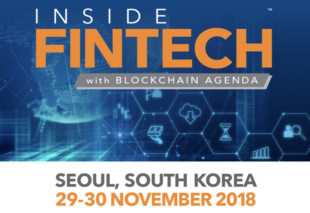 Inside FinTech with Blockchain Agenda 2018