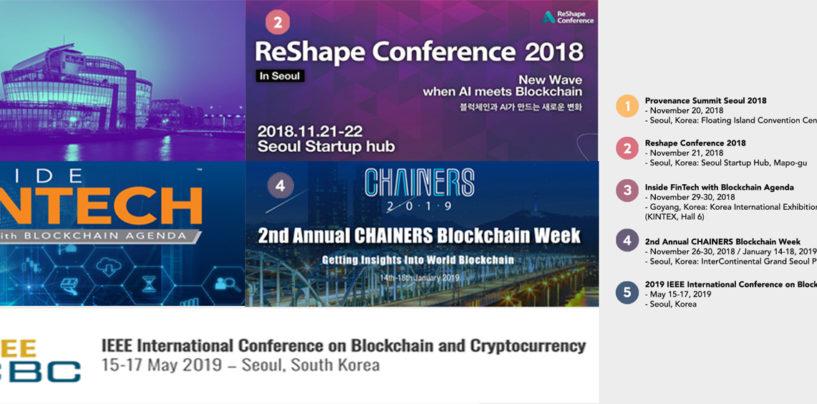 Top 5 Upcoming Fintech Blockchain Conferences in Korea