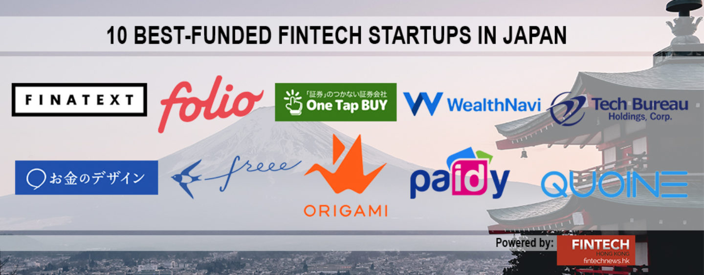10 Best-Funded Fintech Startups in Japan
