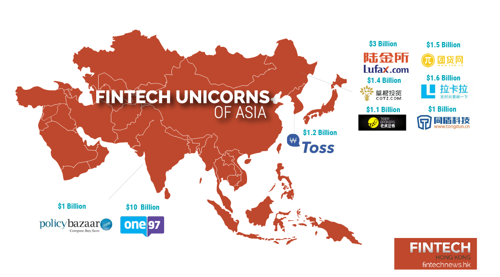 Fintech Unicorns Asia large