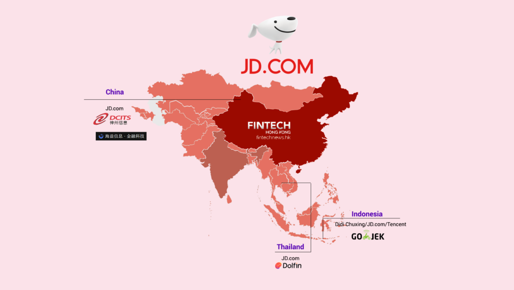 china influence asia fintech investment jd.com