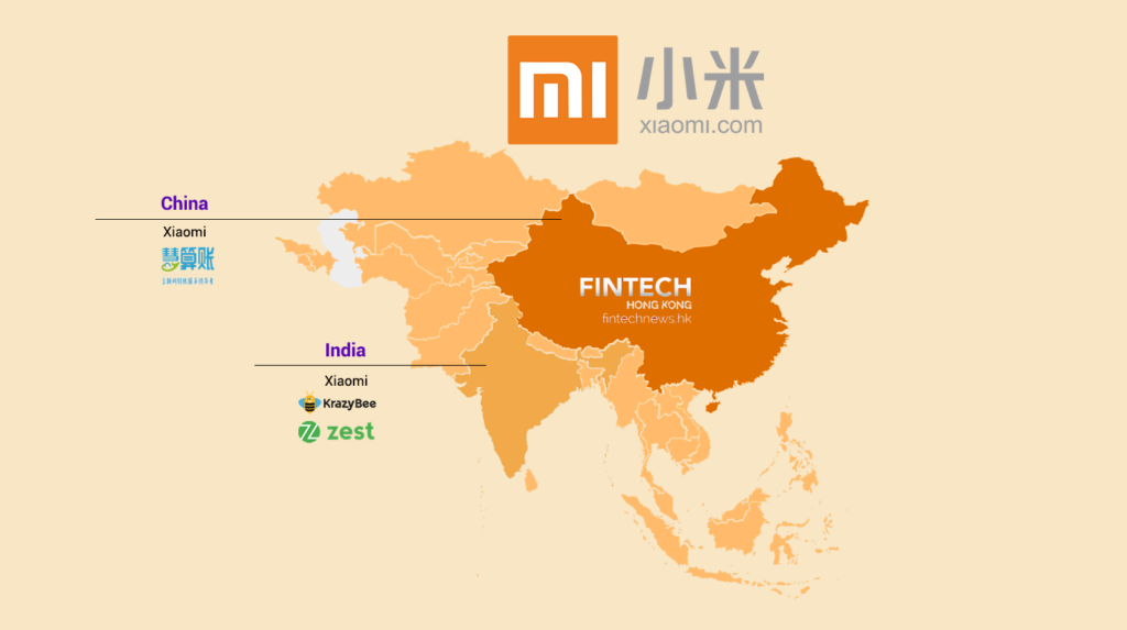 china influence asia fintech investment xiaomi