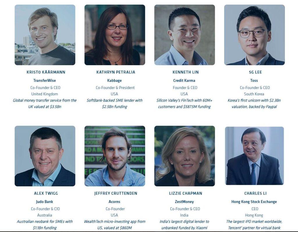 Fintech founders and CEOs attending Hong Kong Fintech Week 2019, @hongkongfintech, Twitter