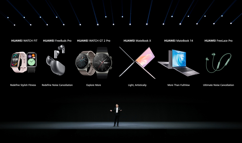 Richard Yu, Executive Director and CEO of Huawei Consumer BG, keynote speech at the Huawei Seamless AI Life New Products Global Launch event, September 10, 2020